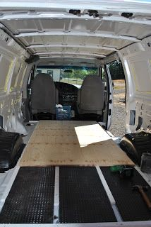 Ford Van Conversion:Steps to insulating the floor.
