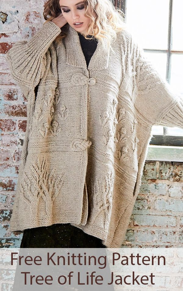 Free Tree of Life Jacket Knitting Pattern   Knitting