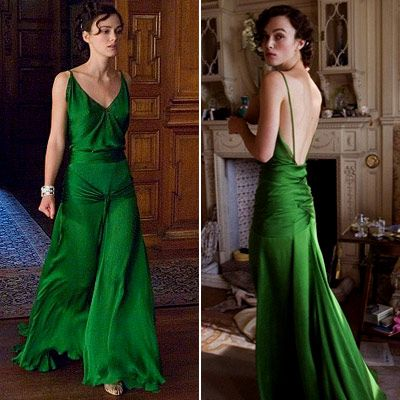 Keira Knightly: Keiraknightley, Emeralds Green Dresses, Keira Knightley, Backless Dresses, Bridesmaid Dresses, Colors, Gowns, Atonement Dresses, The Dresses