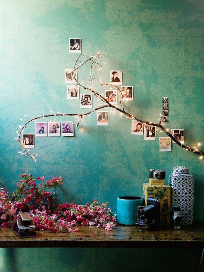 kreatives modell schlafzimmer in der wandfarbe türkis