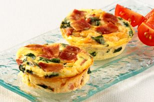 used this healthier version  http://www.foodnetwork.com/recipes/food-network-kitchens/mini-spinach-and-mushroom-quiche-recipe/index.html