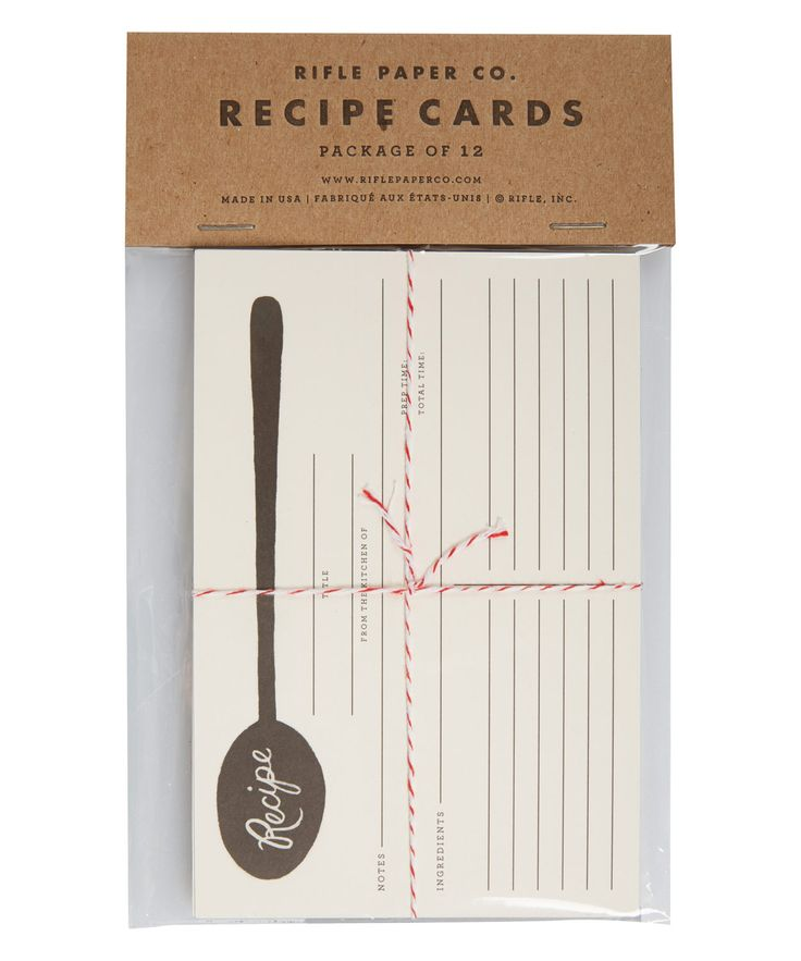 Charcoal Spoon Recipe Cards . Such a nice idea!