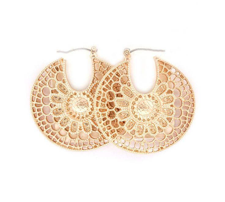 Ramira Crochet Earrings in Gold on Emma Stine Limited
