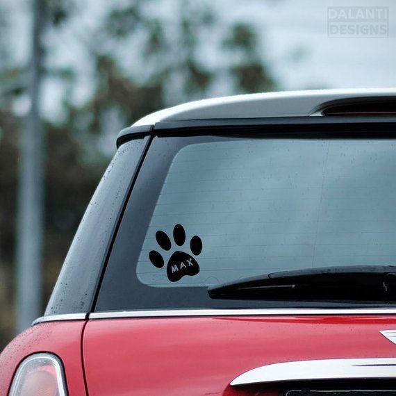 Personalized Name Monogram Dog Bone Vinyl Decal Sticker Car