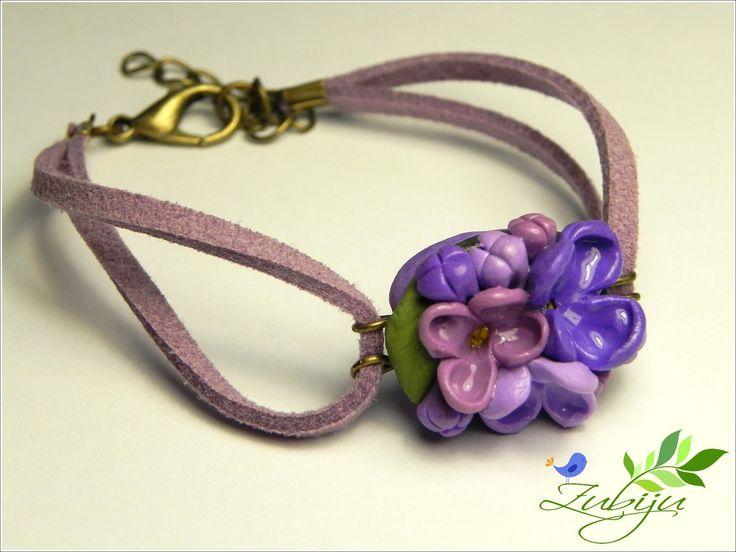 bracelet by Zubiju: Liliac