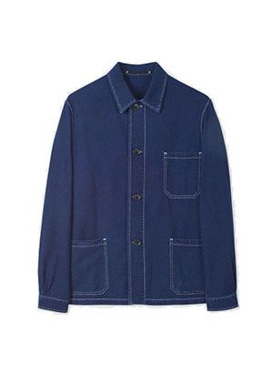 Paul Smith Indigo-dyed Seersucker Chore Jacket, £138