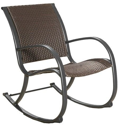 Christopher Knight Home Gracieu0027s Wicker Patio Rocking Chair   Brown