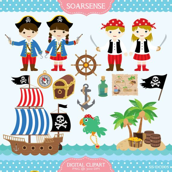 43 best ideas about scrapbook pirates on Pinterest | Clip art ...