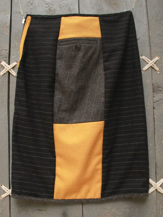 EatingTheGoober reversible skirt, six-gore, below the knee skirt. One skirt - many looks!