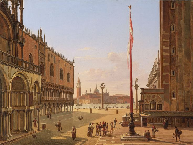 FRANS VERVLOET VENICE, A VIEW OF SAINT MARK'S SQUARE; VENICE, A VIEW OF THE PALAZZO DUCALE AND THE RIVA DEGLI SCHIAVONI