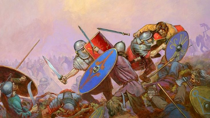 Michael Welply. Battle of the Dacians with the Romans