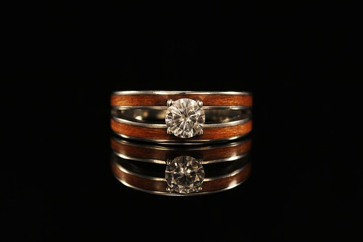 A Womens Wood Engagement Ring