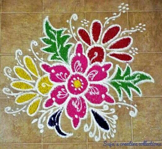 Flower rangoli..........