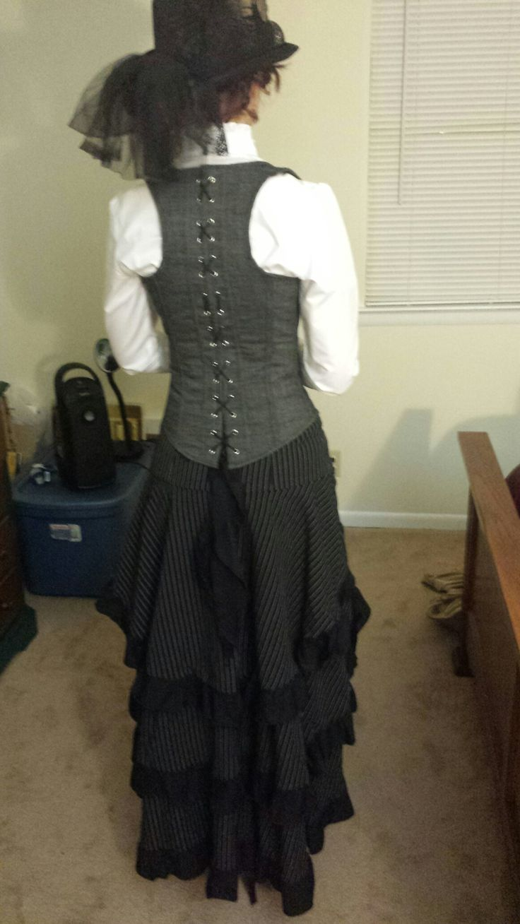 Steampunk librarian- my first steampunk costume.