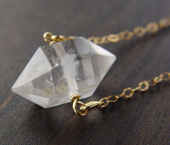 Crystal & Gold Necklace