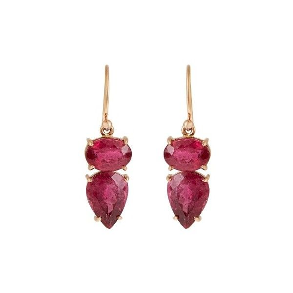 Irene Neuwirth Tourmaline & rose-gold earrings (6,235 CAD) ❤ liked on Polyvore featuring jewelry, earrings, rose gold earrings, irene neuwirth earrings, tourmaline earrings, claw earrings and evening earrings