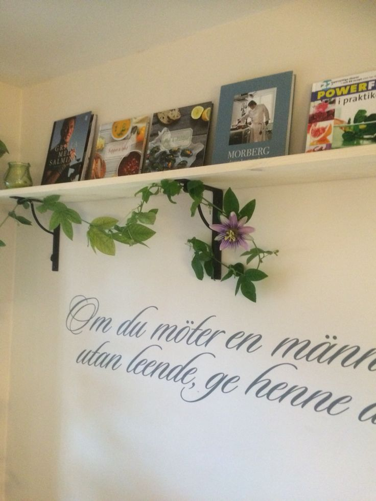 Our own kitchen Wall! The text says; If you meet a person without a smile, give her yours! #home #peace # love