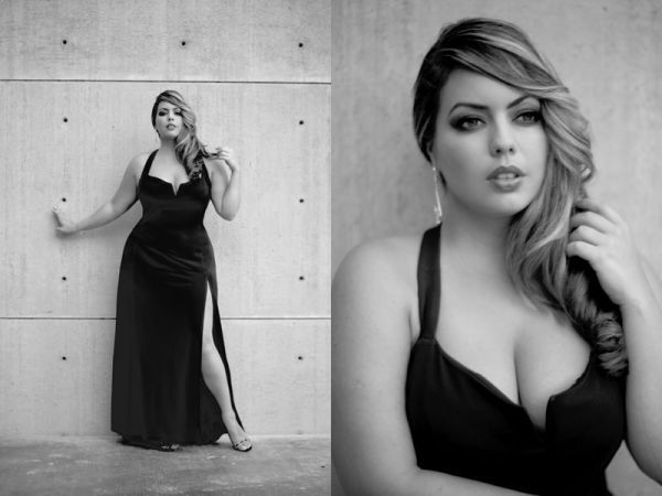 These photos do not even begin to do this Brazilian beauty justice. Even for a plus size model, Fluvia's on the larger side: most are a size 12 or 14; she's an 18.