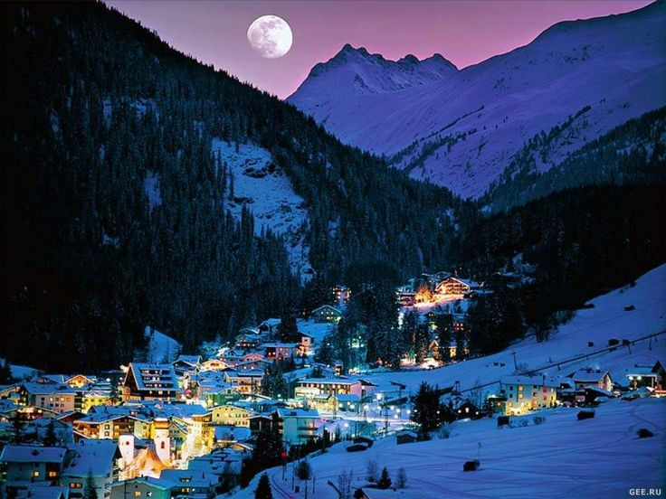 AustriaSki Resorts, Silent Night, Favorite Places, Beautiful, Winter Wonderland, The Village, St Anton, Travel Destinations, Austria