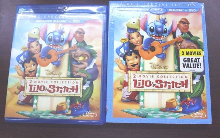 Lilo and Stitch: 2-Movie Collection (Blu-ray/DVD 2013 3-Disc Set)