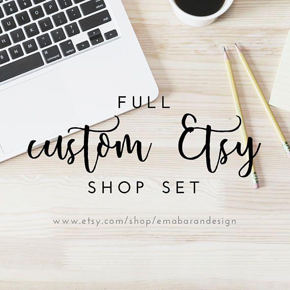 Etsy Shop full design  shop Icon logo design shop banner