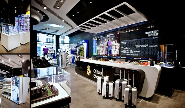 Stunning Real Madrid Store design in Madrid: Front Desk Design Of Stunning Real Madrid Official Store