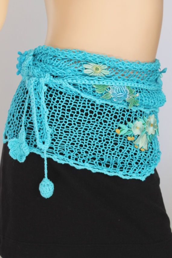 Super Long Linen  Hand Knitted  Scarf  Lariat Scarf par levintovich, $68.00