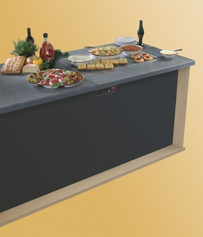 Hatco Glo-Ray® Built-In Rectangular Heated Simulated Stone Shelves (model shown: GRSSB-3618) have a blanket-type foil element to create a uniform heat across the entire Swanstone® surface, an approved foodsafe material, making it ideal to use on buffet lines and as hors d'oeuvre displays. Series GRSSB available in all Hatco regions. Click to learn more.