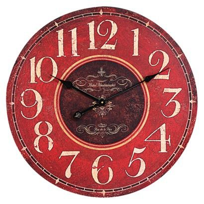 Oversized Wall Clock - Red. I want to do my kitchen/dining room in primary colors. I think this would look good maybe in the dining room?