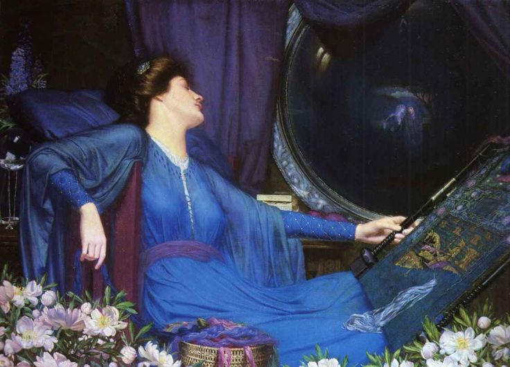 "Image result for I am half sick of shadows"" said the Lady of Shalott (1913) Sidney Meteyard"