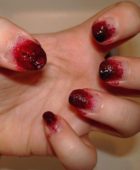 walking dead nails...SO WONDERFULLY GROSS!!