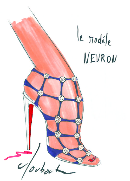 Illustration by Christian Louboutin | I love shoes | Pinterest
