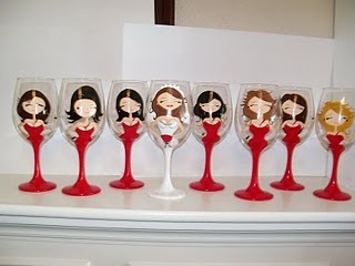 82 best images about Painted Wine Glass - Wedding/Bridal on ...