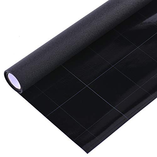 VELIMAX Static Cling Total Blackout Window Film Privacy Room Darkening Window Tint Black Window Cover Removable 100/% Light Blocking No Glue 17.7 x 78.7 inches