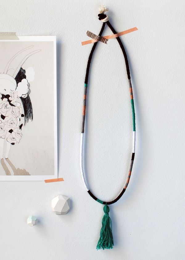 Create Your Own Gorgeous Hand-Wrapped Tassel Necklace