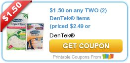 Tri Cities On A Dime: SAVE $1.50 ON ANY 2 DEN TEK ITEMS = PRICED $2.49 O...