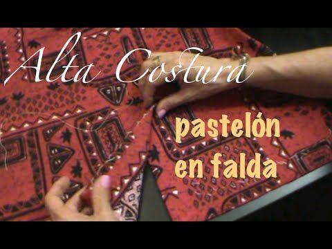 Alta Costura Clase 15, Armando el pastelón falda - YouTube