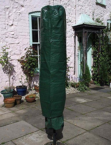 Garden mile® Large Green Parasol Cover,Garden Rotary Air Dryer Cover,Heavy Duty Waterproof UV Protected Parasol Cover,Large Size 195cm x 45cm.---4.99---