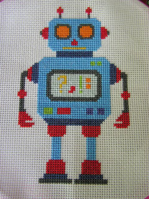 Another Cross Stitch Robot by doublewinky, via Flickr