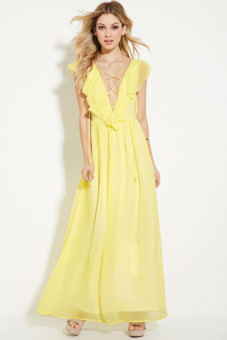 Pastel yellow dress forever 21