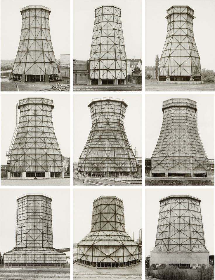 Bernd & Hilla Becher set of nine gelatin prints, Cooling Towers, Ruhr District, 1983, sold for $140,500 at the Photographs sale, 4 October 2011, New York.