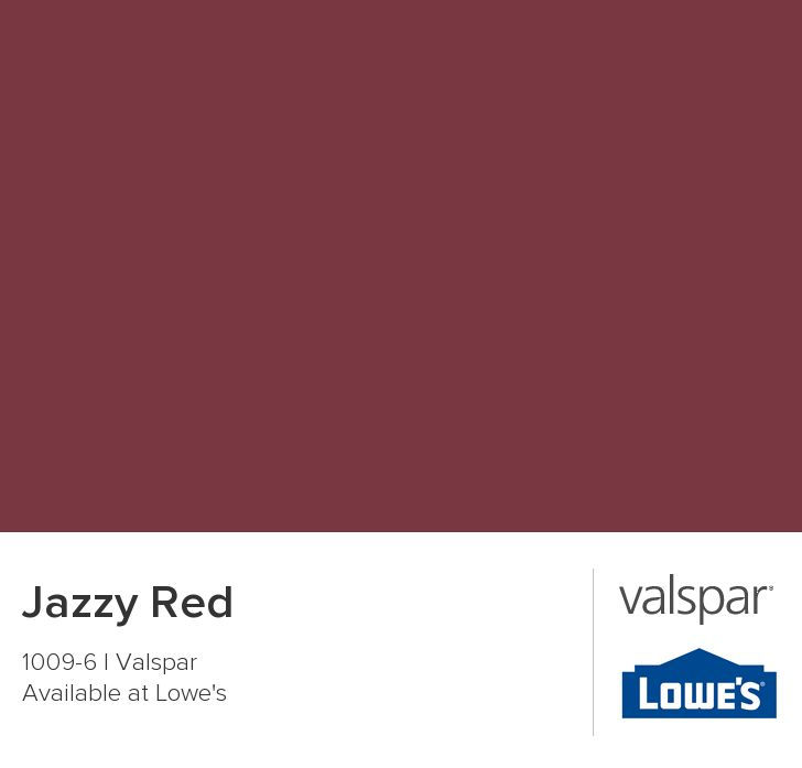 Jazzy Red From Valspar Accent Wall Paint Colors Red