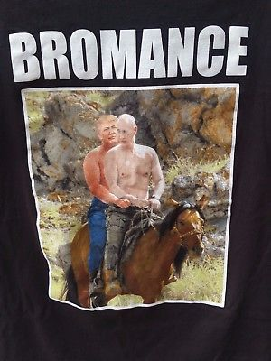 President Donald Trump Vladimir Putin Shirtless Horesback Riding Novelty T Shirt