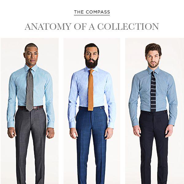 Anatomy of a Collection: The Black Lapel Take on Men's Spring Fashion 2015 http://www.blacklapel.com/thecompass/mens-spring-fashion-anatomy-of-a-collection/?utm_campaign=3-24-2015-shirts-launch-anatomy-of-a-collection&utm_medium=social&utm_source=pinterest&utm_content=3-24-2015-shirts-launch-anatomy-of-a-collection&utm_term=