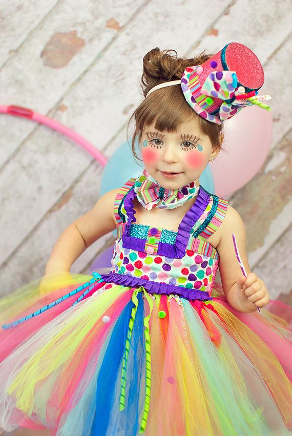 Circus tutu dress Clown tutu dress circus clown por GlitterMeBaby