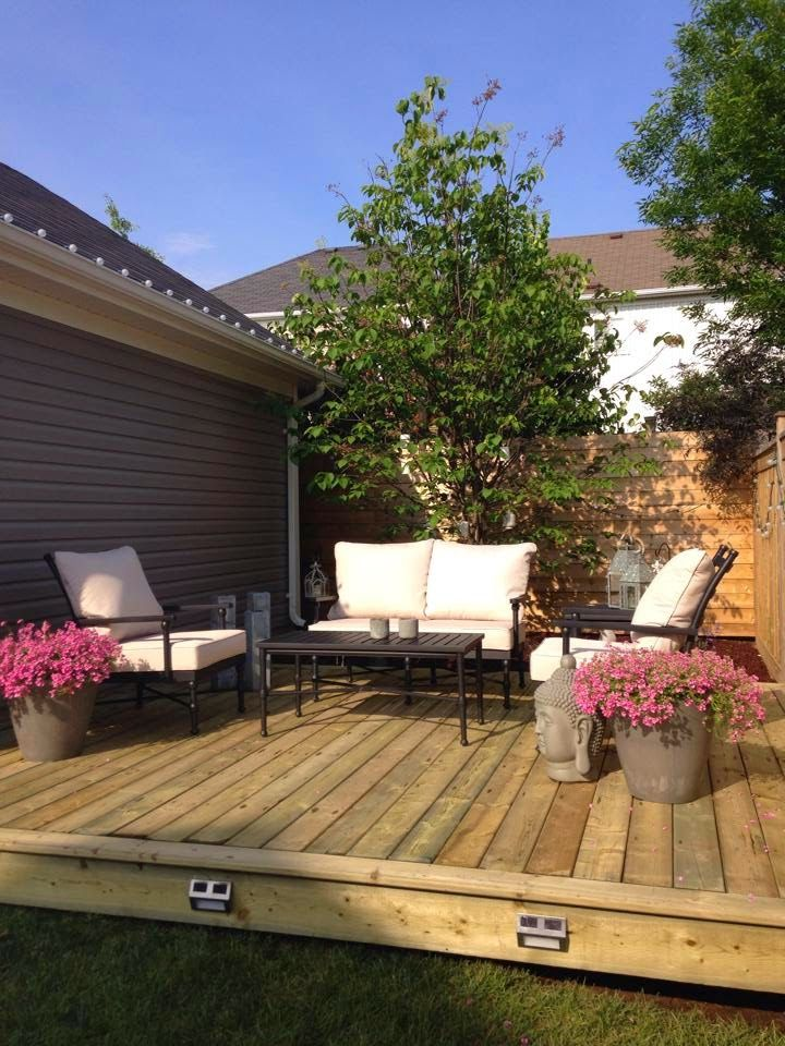 Our new outdoor room and platform deck