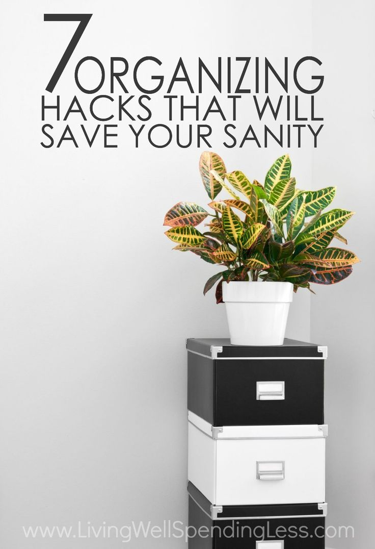 Ever wish you could be more organized? While more storage bins won't solve the problem of too much clutter, sometimes getting your life in order is just a matter of finding the right system. If you've ever struggled to get things in place, you will not want to miss these 7 organizing hacks that will save your sanity! via @lwsl