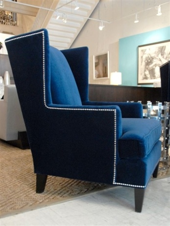Navy Modern Wing Chair   Family Room   Pinterest   Modern, Modern  Traditional And Mitchell Gold