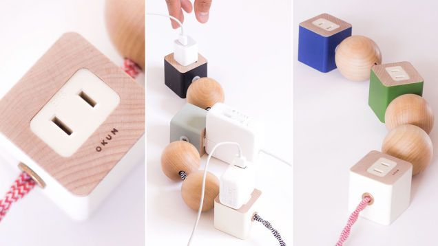 A Stylish Power Strip You Won't Want To Hide Under a Table