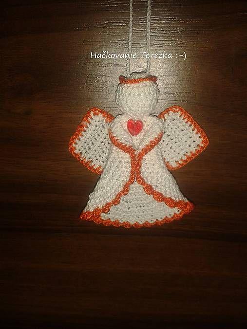 hackovanie-Terezka / anjelik bielo-orandzovy